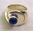 7mm rd st step moon ring