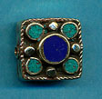 Brass five circles in square, turquoise and lapis.JPG