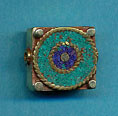 Brass square with turquoise and lapis circles.JPG