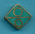 Brass square, turquoise, circle over line.JPG