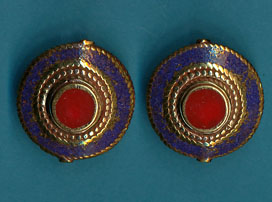 Circle in Disc Lapis Coral