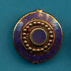 Circle in Disc with Dots lapis