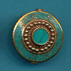 Circle in Disc with Dots Turquosie