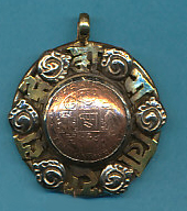 Copper Coin with Om Mani Padme Hum Pendant