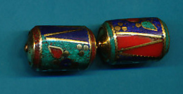 Cylindrical Floral Brass