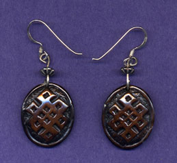 Bone Endless Knot Earring