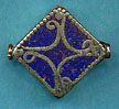 Filigree Square Lapis