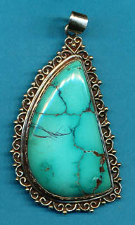 Lacy Free Form Turquoise