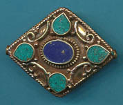Large Diamond Shaped Lapis with Turquoise, (BD059LT).JPG