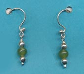 Natural Jade Dangle Earrings