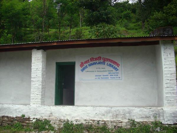 New Library on Mountain in Nepal.JPG