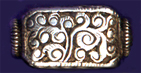 Nilofur Rectangular Scroll Bead