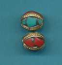 Rounded Oval Turquoise, Coral.JPG