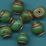 Spiral Capped Turquoise