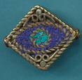Square Filigree Lapis and Turq.
