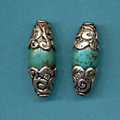 Sterling silver Capped Turquoise long